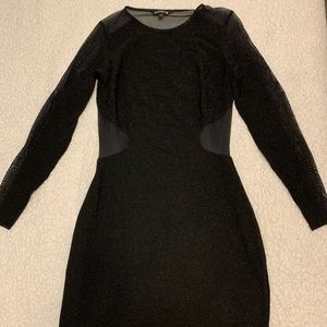 Express black sparkly sheer dress